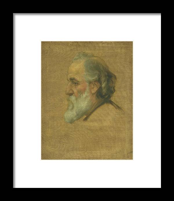 Sir Charles Holroyd 1861–1917 Title Sketch Of Alphonse Legros Framed Print featuring the painting Title Sketch Of Alphonse Legros by MotionAge Designs