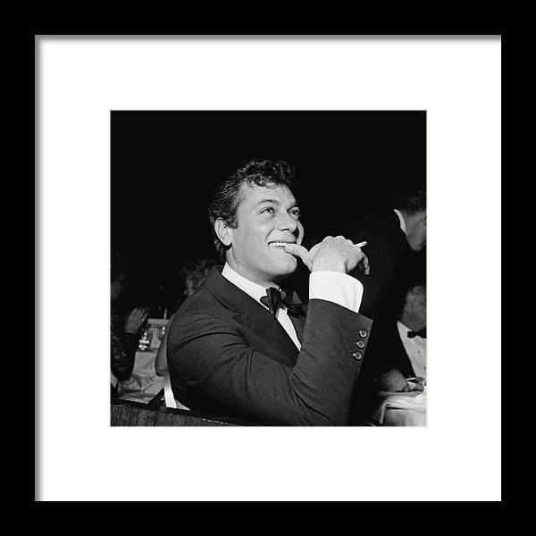 Smoking Framed Print featuring the photograph Tony Curtis by Michael Ochs Archives