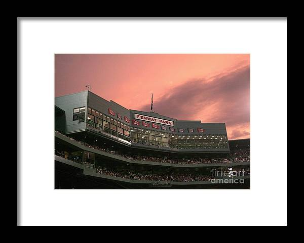 American League Baseball Framed Print featuring the photograph Toronto Blue Jays V Boston Red Sox by Elsa