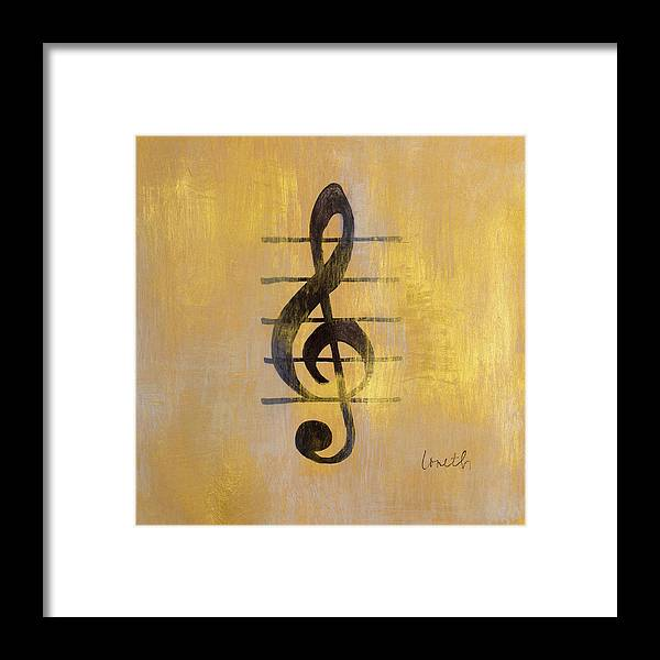 Treble Framed Print featuring the painting Treble Clef by Lanie Loreth