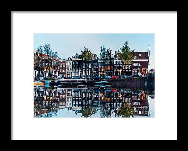 Arch Framed Print featuring the photograph Typical Dutch Houses Reflections by Serts