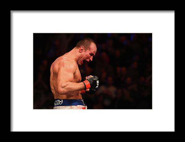 Event Framed Print featuring the photograph Ufc Fight Night - Dos Santos V Miocic by Josh Hedges/zuffa Llc