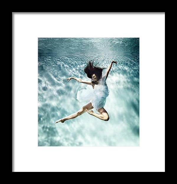 Ballet Dancer Framed Print featuring the photograph Underwater Ballet by Henrik Sorensen