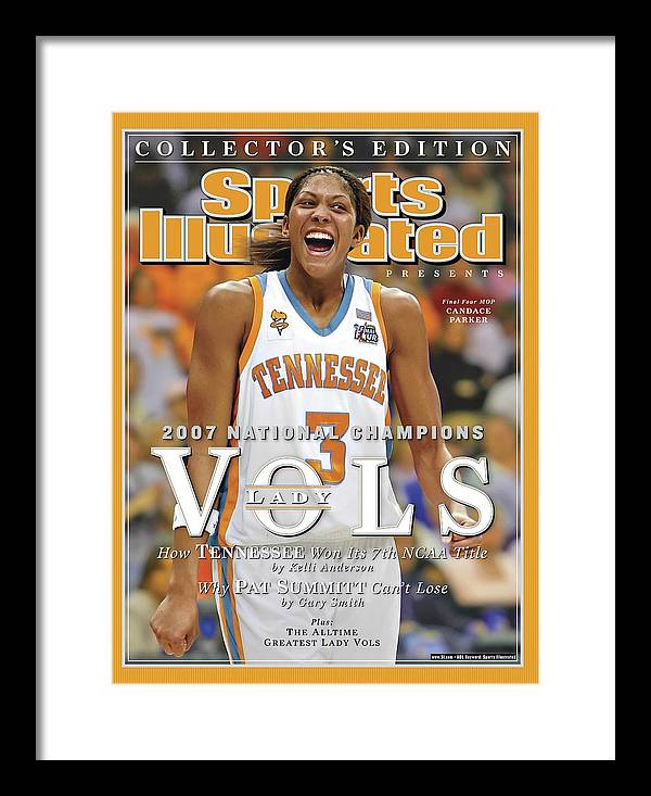 Sports Illustrated Framed Print featuring the photograph University Of Tennessee Candace Parker, 2007 Ncaa National Sports Illustrated Cover by Sports Illustrated