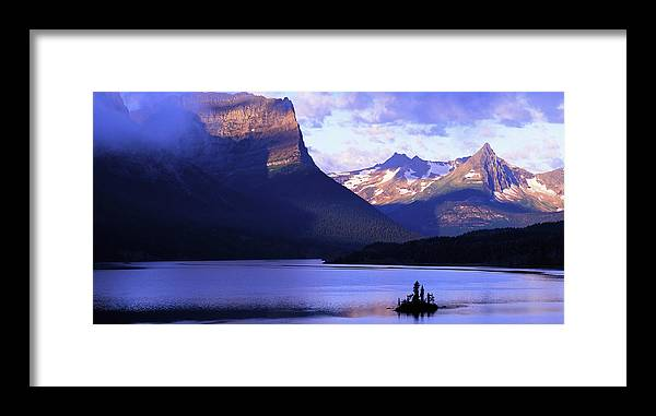 Scenics Framed Print featuring the photograph Usa, Montana, Glacier Np, Mountains by Paul Souders