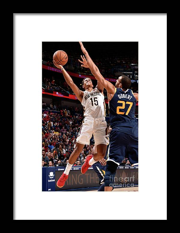Smoothie King Center Framed Print featuring the photograph Utah Jazz V New Orleans Pelicans by Bill Baptist