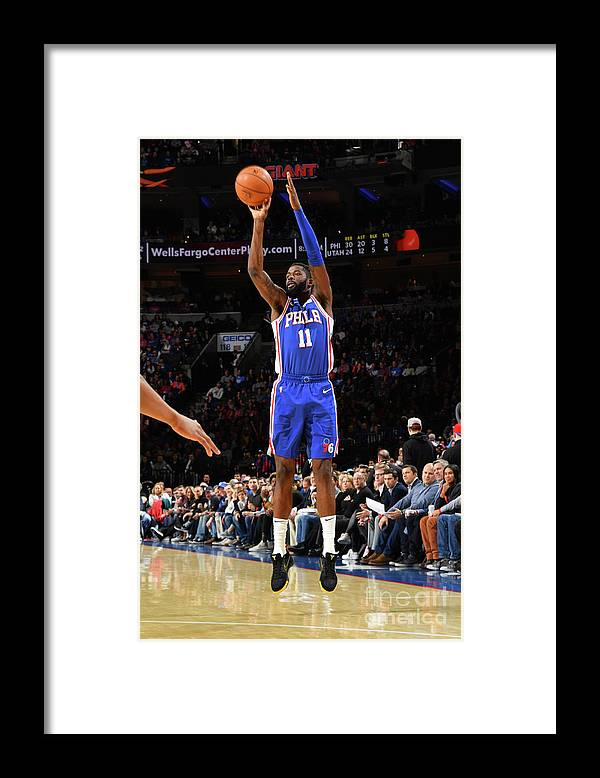 Nba Pro Basketball Framed Print featuring the photograph Utah Jazz V Philadelphia 76ers by Jesse D. Garrabrant