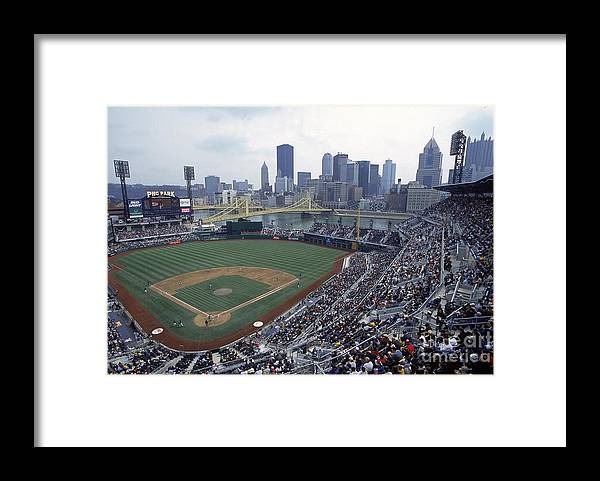 Pnc Park Framed Print featuring the photograph View Of Stadium by Jamie Squire