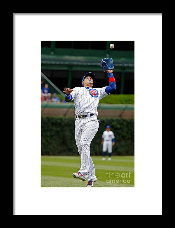 People Framed Print featuring the photograph Washington Nationals V Chicago Cubs by Jon Durr