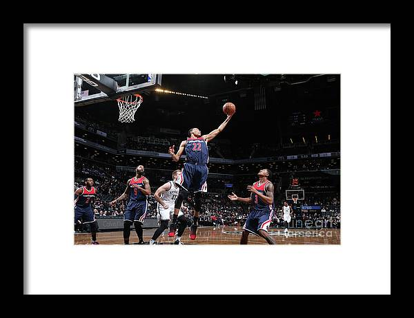 Nba Pro Basketball Framed Print featuring the photograph Washington Wizards V Brooklyn Nets by Nathaniel S. Butler