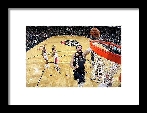 Smoothie King Center Framed Print featuring the photograph Washington Wizards V New Orleans by Layne Murdoch Jr.