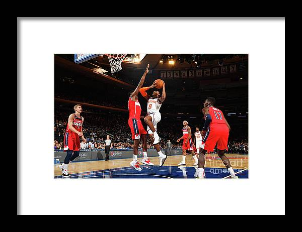 Nba Pro Basketball Framed Print featuring the photograph Washington Wizards V New York Knicks by Jesse D. Garrabrant