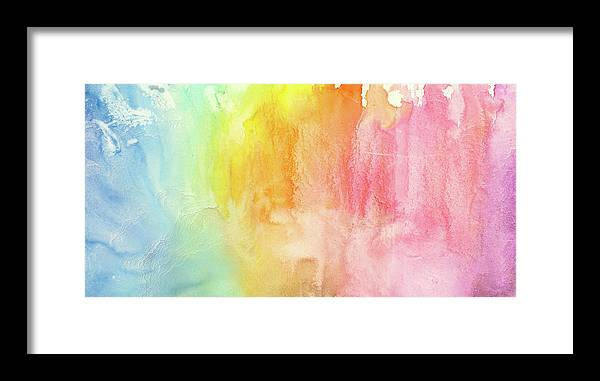 Watercolor Painting Framed Print featuring the photograph Watercolor Rainbow Painting by Jusant
