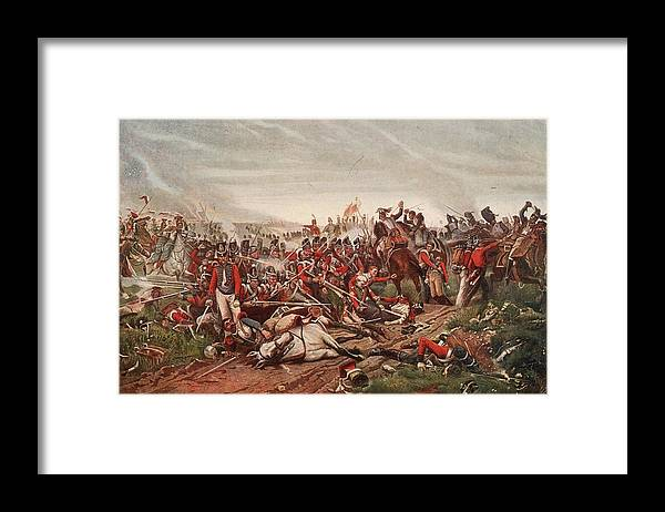 Horse Framed Print featuring the digital art Waterloo by Hulton Archive