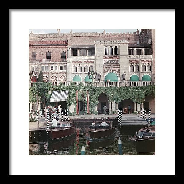 People Framed Print featuring the photograph Westin Excelsior by Slim Aarons