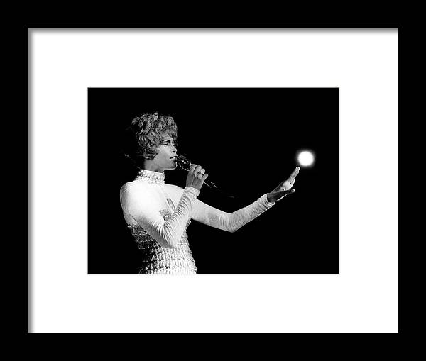 Whitney Houston Framed Print featuring the photograph Whitney Houston Live In Concert by Raymond Boyd