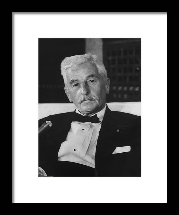 Timeincown Framed Print featuring the photograph William Faulkner by Carl Mydans