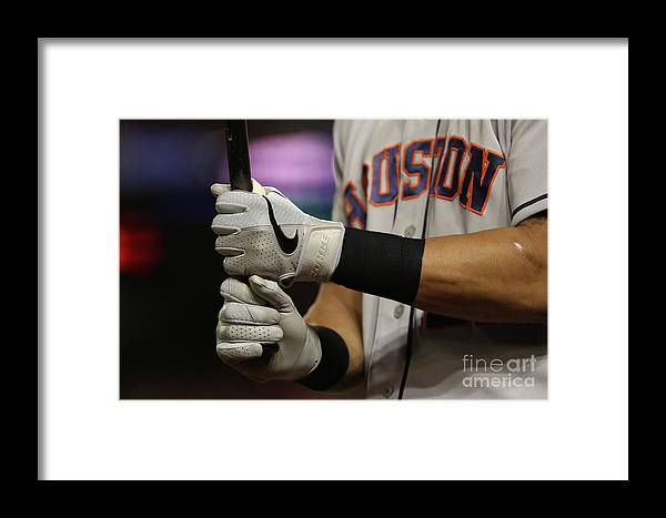 American League Baseball Framed Print featuring the photograph World Series - Houston Astros V 1 by Patrick Smith