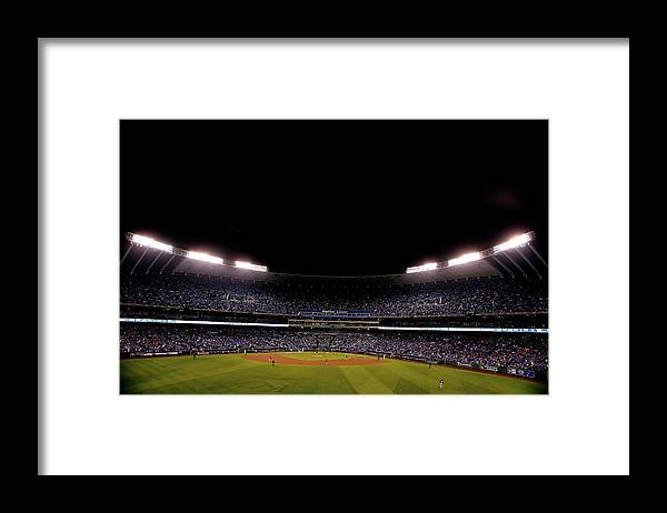 American League Baseball Framed Print featuring the photograph World Series - New York Mets V Kansas by Christian Petersen