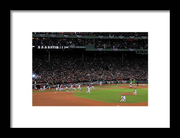 St. Louis Cardinals Framed Print featuring the photograph World Series - St Louis Cardinals V by Jim Rogash