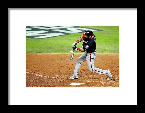American League Baseball Framed Print featuring the photograph World Series - Washington Nationals V 1 by Bob Levey