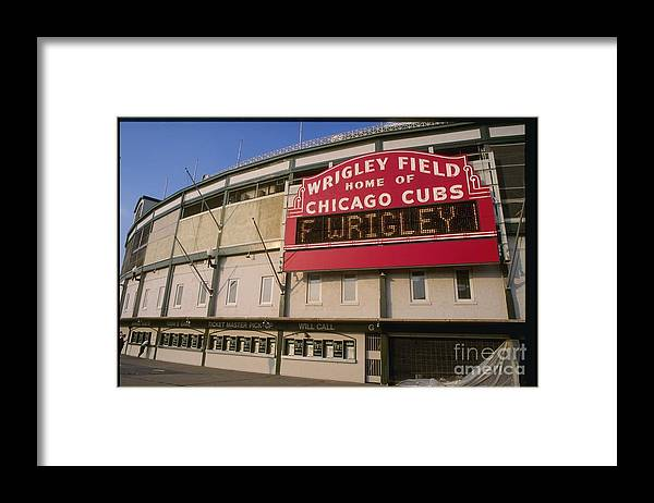National League Baseball Framed Print featuring the photograph Wrigley Field by Jonathan Daniel