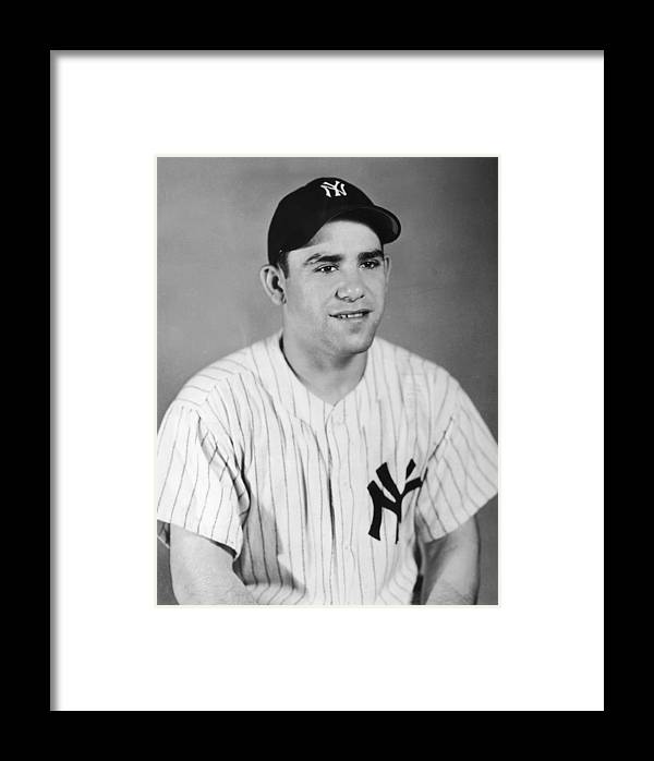 People Framed Print featuring the photograph Yogi Berra by Hulton Archive