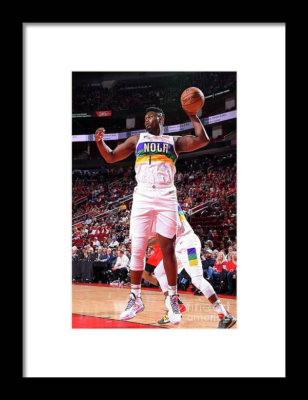 Nba Pro Basketball Framed Print featuring the photograph Zion Williamson by Bill Baptist