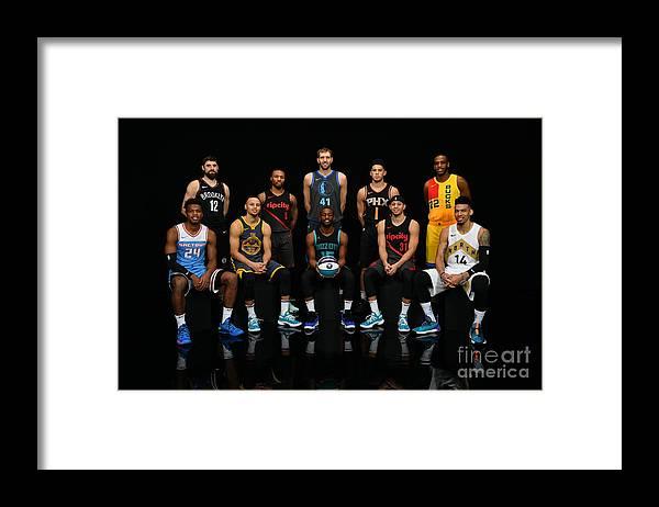 Kemba Walker Framed Print featuring the photograph 2019 Nba All Star Portraits by Jesse D. Garrabrant