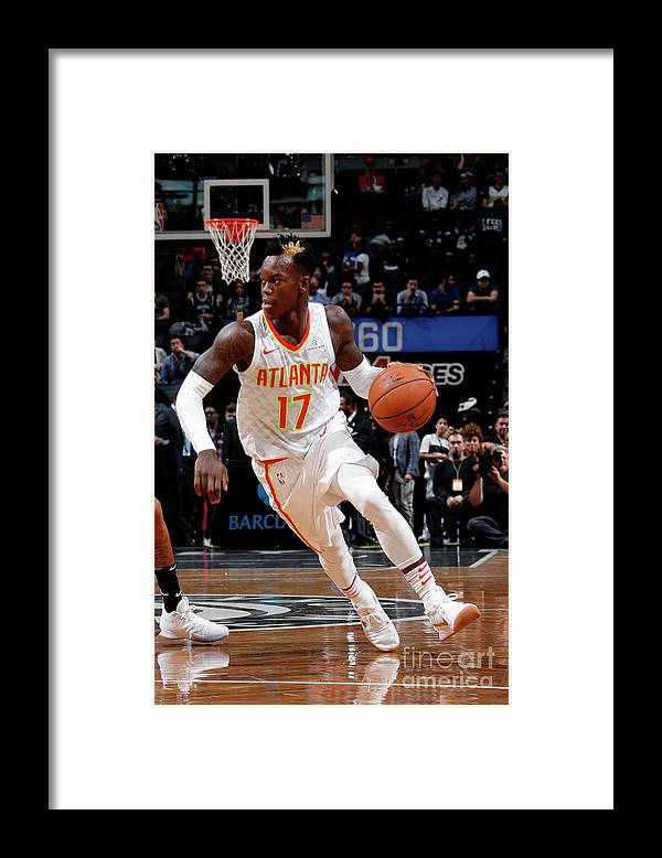 Nba Pro Basketball Framed Print featuring the photograph Atlanta Hawks V Brooklyn Nets by Nathaniel S. Butler
