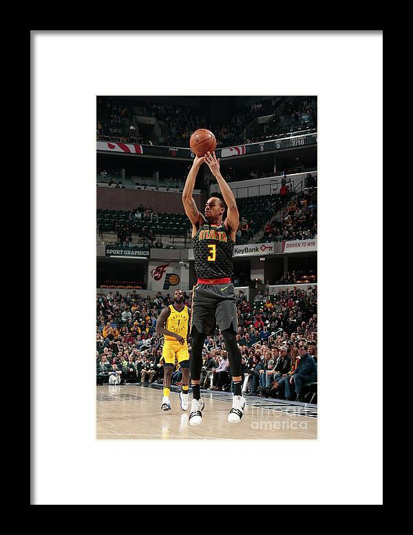 Nba Pro Basketball Framed Print featuring the photograph Atlanta Hawks V Indiana Pacers by Ron Hoskins