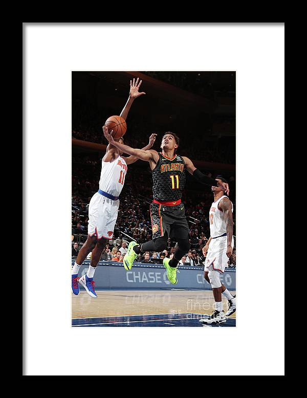 Nba Pro Basketball Framed Print featuring the photograph Atlanta Hawks V New York Knicks by Nathaniel S. Butler
