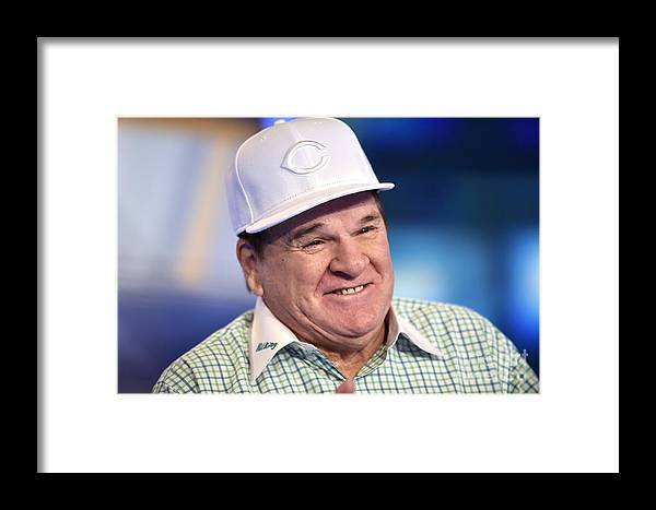 People Framed Print featuring the photograph Baseball Legend Pete Rose Visits Stuart by Steven Ferdman