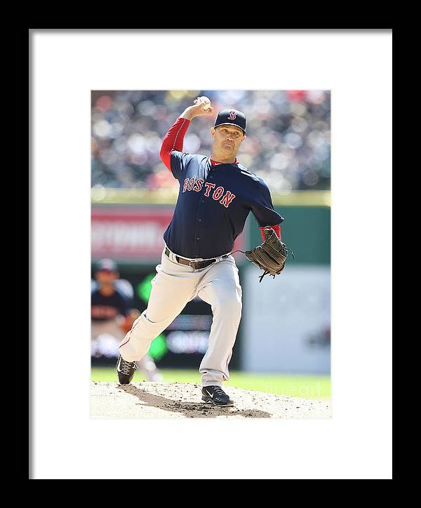 People Framed Print featuring the photograph Boston Red Sox V Detroit Tigers 10 by Leon Halip