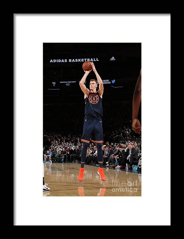 Nba Pro Basketball Framed Print featuring the photograph Brooklyn Nets V New York Knicks by Nathaniel S. Butler