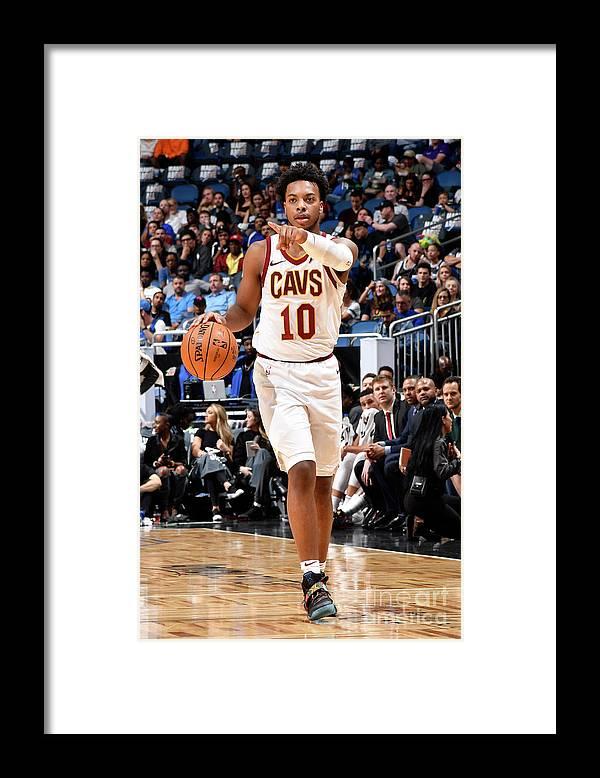 Nba Pro Basketball Framed Print featuring the photograph Cleveland Cavaliers V Orlando Magic by Fernando Medina