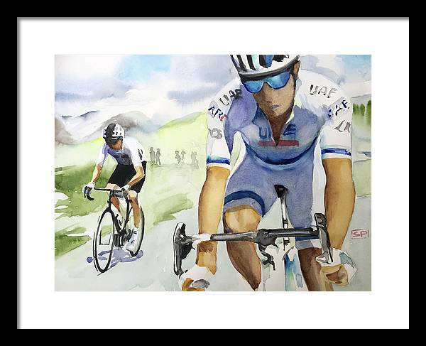 10 Froome and Kristoff Climbing by Shirley Peters