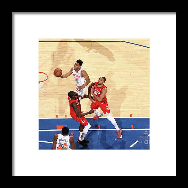 Nba Pro Basketball Framed Print featuring the photograph Houston Rockets V New York Knicks by Nathaniel S. Butler