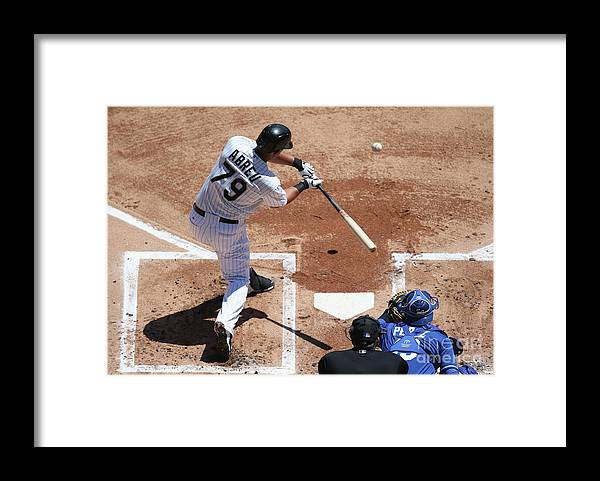 American League Baseball Framed Print featuring the photograph Kansas City Royals V Chicago White Sox by Jonathan Daniel