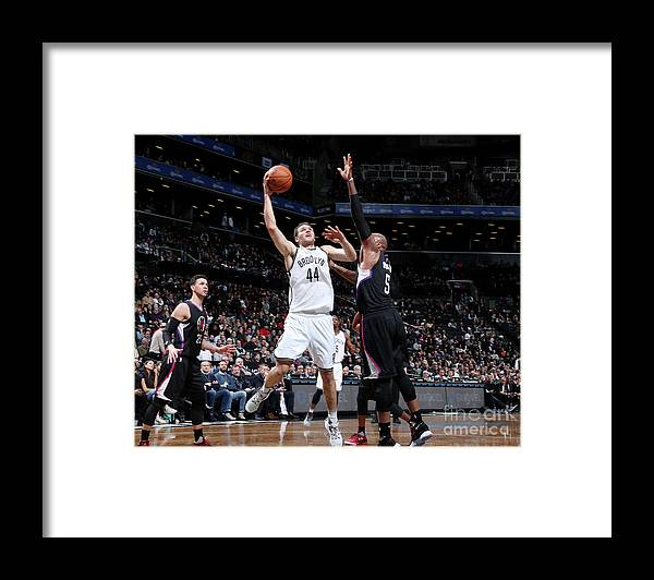 Nba Pro Basketball Framed Print featuring the photograph La Clippers V Brooklyn Nets by Nathaniel S. Butler