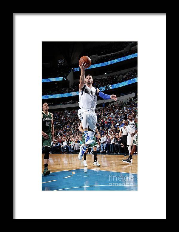 Nba Pro Basketball Framed Print featuring the photograph Milwaukee Bucks V Dallas Mavericks by Glenn James