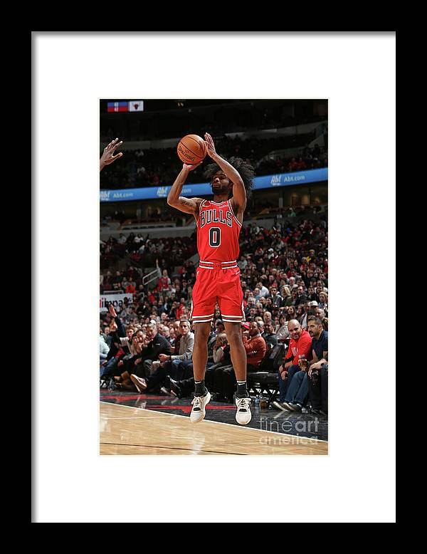 Coby White Framed Print featuring the photograph New York Knicks V Chicago Bulls by Gary Dineen