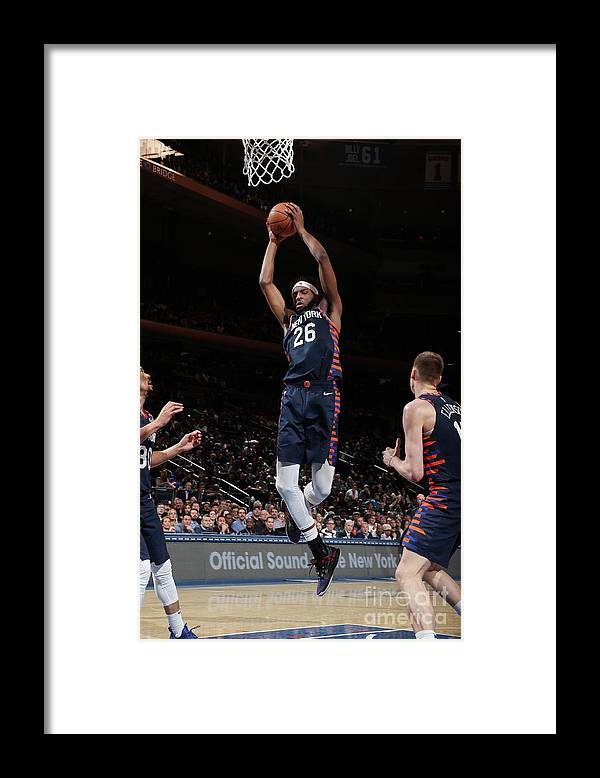 Nba Pro Basketball Framed Print featuring the photograph Orlando Magic V New York Knicks by Nathaniel S. Butler