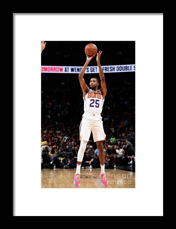 Nba Pro Basketball Framed Print featuring the photograph Phoenix Suns V Denver Nuggets by Garrett Ellwood