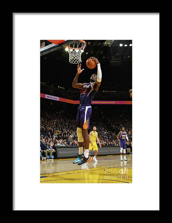 Nba Pro Basketball Framed Print featuring the photograph Phoenix Suns V Golden State Warriors by Noah Graham