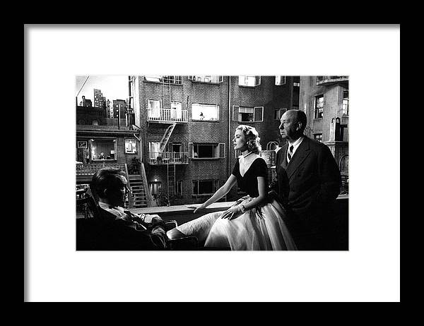 Jimmy Stewart Framed Print featuring the photograph Rear Window by Michael Ochs Archives