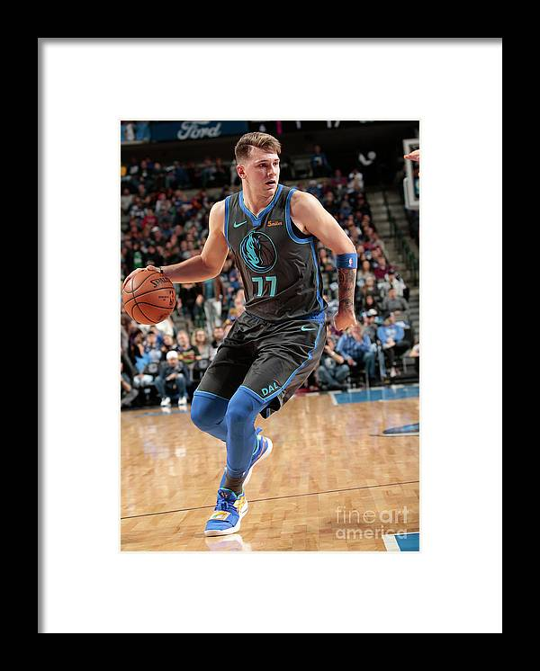 Nba Pro Basketball Framed Print featuring the photograph Sacramento Kings V Dallas Mavericks by Glenn James