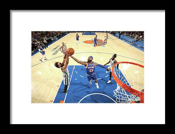 Nba Pro Basketball Framed Print featuring the photograph San Antonio Spurs V New York Knicks by Nathaniel S. Butler