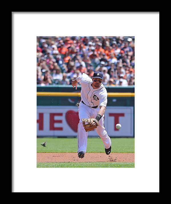 American League Baseball Framed Print featuring the photograph Texas Rangers V Detroit Tigers by Leon Halip