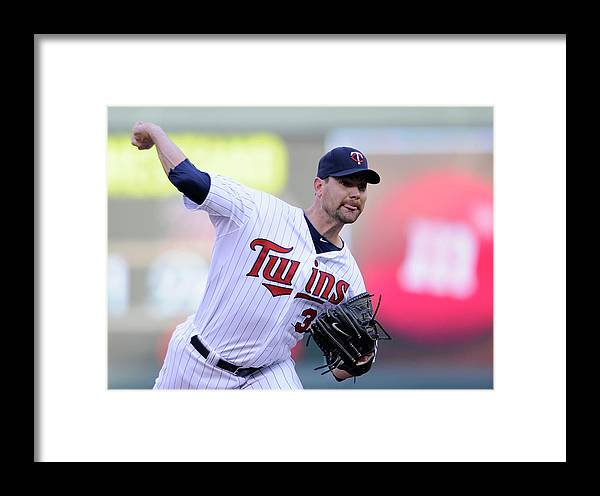 Game Two Framed Print featuring the photograph Toronto Blue Jays V Minnesota Twins - 10 by Hannah Foslien